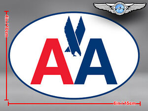 AMERICAN AIRLINES AA OVAL OLD EAGLE LOGO DECAL / STICKER