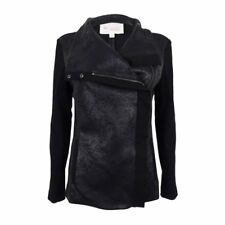 $149 Vince Camuto Women's Asymmetrical-Zip Moto Jacket Rich Black Size XL