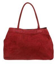 Genuine Expandable Italian Suede Leather Shoulder Bag Real Leather Handbag