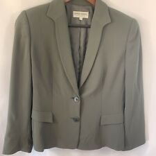 GIORGIO ARMANI Blazer Silk 2-Button Dress Suit 6 olive Green Top Career Work
