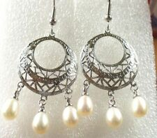 Silver Plated Chandelier Fashion Earrings
