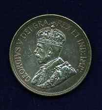 CYPRUS  GEORGE V  1928  45 PIASTRES SILVER COIN, ALMOST UNCIRCULATED!