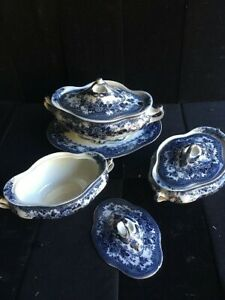 1910s Losolware Soup and Vegetable Tureens- 4 Piece Set