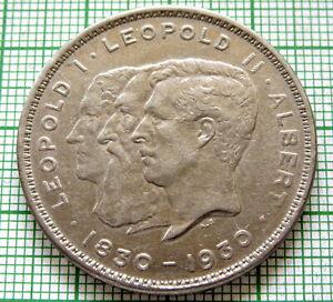 BELGIUM 1930 10 FRANCS - 2 BELGA, CENTENNIAL OF BELGIAN INDEPENDENCE FRENCH TEXT