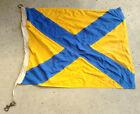 "Used USCG USN Regulation 26"" x 35"" Signal Pennant Flag - Numeral Five"