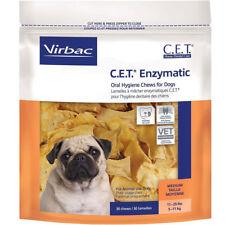 Cet премиум ферментативных гигиена п��лости рта жевательные предметы для средних собак, 11-25 фунтов 30 ct