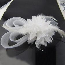 Headband -Blume tocado con plumas de novia de la boda de Horquilla