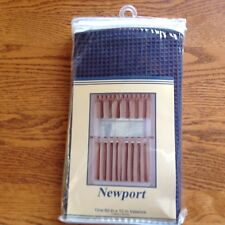 """Newport... Navy Blue ...Valance ...60"""" X 12""""......new in package...curtains"""