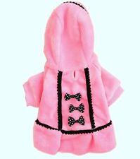 Joli MANTEAU en fourrure ROSE avec nœuds pour petit chien - Taille M