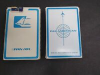 Vintage Lot of 2 Packs Pan American Pan Am Airlines Playing Cards Made USA