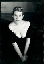 Photo Jean François Jonvelle Tirage Original Christine Citti Cinéma Vers 1990