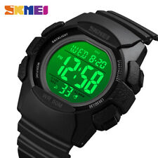 SKMEI 2 Time Digital LED Light Sport Watch For Male Chrono Wristwatches 1771 97
