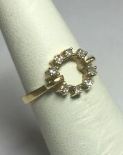 VINTAGE 597ms NOS 14k YLW Oro ORIGINAL 0.15 Quilate TW Diamante Mujer donit