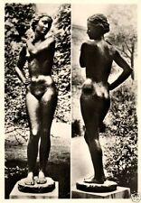 Zwischenkriegszeit (1918-39) Sammler Motiv-Echtfoto aus Deutschland mit Skulptur