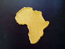 "3 Pcs Rasta Africa Map (Gold) Embroidered Patches 3.25""x3"" iron-on"