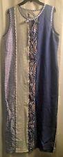 NWOT Koos of Course Cotton Silk Eyelet Patchwork Avant Garde Long Maxi Dress L