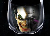 Joker Batman Mask Car Hood Wrap Full Color Vinyl Sticker Decal Fit Any Car