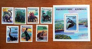 Dinosaur Animals Préhistoriques 1991 Tanzania New MNH 88M164