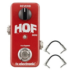 TC Electronic HOF Hall of Fame Reverb Mini Guitar Effects Pedal w/ 2 Flat Patch