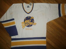 PLANET HOLLYWOOD HOCKEY JERSEY Beverly Hills Laker Colors vtg 90s Adult Small