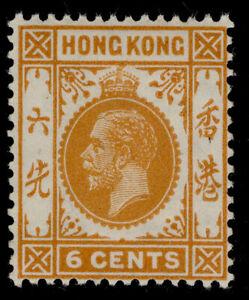 HONG KONG GV SG103a, 6c brown-orange, LH MINT.
