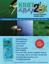 "Aquateko Knot 2 Kinky Premium Fishing Tackle titanium Leader, 15lb, 12"", 3 pack"