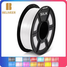 Beliveer SILK +/-0,02 mm für 3D-Druck weißes Filament 1,75 mm 2,2 lbs Länge 330m