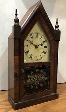 Early Jerome & Co Miniature Steeple Mantel Table Shelf Clock