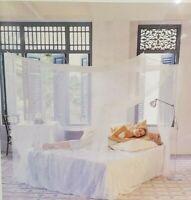 Mosquito Net Rectangular Queen or King Size Fine Mesh Netting, White, NEW!