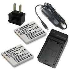 Charger + 2x Battery for Sanyo Xacti DSC-J4 VPC-C1 VPC-C4 VPC-C40 VPC-C5 VPC-C6