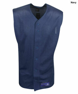 New Mizuno Boys Youth Size- XL Navy Blue Sleeveless Full Button Mesh Jersey