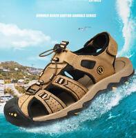 Men Summer Hiking Climbing Sandals Wading Closed Toe Fisherman Beach Sport Shoes