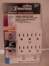 Emerson Power Accessories 6 Outlet Surge Protector with Video Protection-Av3619