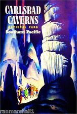 Carlsbad Caverns New Mexico Vintage United States Travel Advertisement Poster
