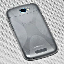 X-Rubber Silikon TPU Handy Hülle Cover Case Schale  in Foggy für HTC One X