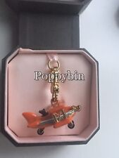 BRAND NEW! JUICY COUTURE ORANGE AIRPLANE BRACELET CHARM IN TAGGED BOX