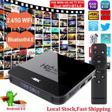 H96 MINI H8 Android 9.0 2.4/5G WLAN BT 4K TV BOX Quad Core 3D Media Streamer USB