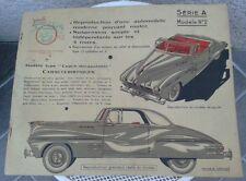 ELLEN JOUETS MAQUETTE AUTOMOBILE CARTONNÉE NEUMANN SÉRIE A MODÈLE 2 VINTAGE 1956
