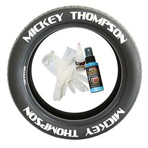 Tire Lettering Pre-Curved Permanent Raised Letters Mickey Thompson Set of 8