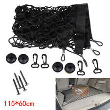 1x Black Car SUV Rear Trunk Boot Floor Cargo Net Elastic Mesh Storage Fixed Set