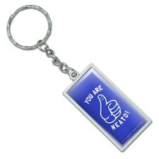 You Are Neato Cool Funny Humor Rectangle Chrome Plated Metal Keychain Key Chain