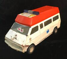 ERTL Vintage 1:18 die cast metal Rescue Van white/orange Rare!