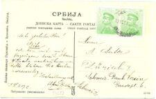 SERBIA 1914 PPC TO SWITZERLAND----VF---@5
