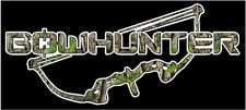 Camo Bowhunter Bow Vinyl Decal Sticker Hunt Buck Bear Turkey Deer Whitetail