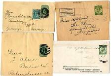2 KEVII & 2 KGV ½d GREEN POSTAL STATIONERY WRAPPERS - ADVERTISING - ALL POSTED