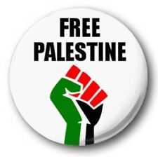 "FREE PALESTINE - 25mm 1"" Button Badge - Novelty Cute Protest FIST"