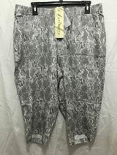 BNWT Womens Sz 20 Autograph Brand Snake Print Elastic Waist Crop Pants RRP $60