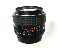 SMC Pentax 50mm 1:1.2 Super Fast  Lens With Pentax UV Filter