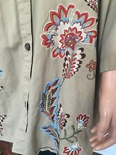 Liz & Me Women Plus Size 4X Tunic Shirt Embroidered Floral Designer Fashion Hip