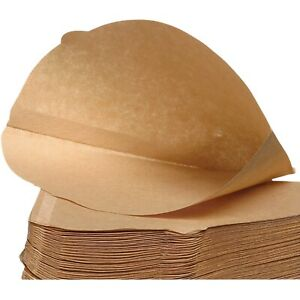 Coffee Filter Papers Size 4 Unbleached Brown Replacement Cones x 100